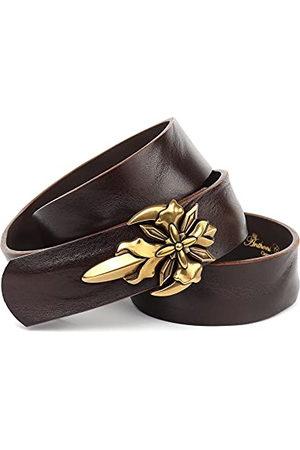 Anthoni Crown Unisex 4SG340-95 bälte, mörkbrun, 95