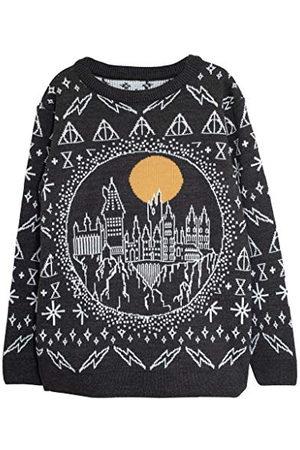 Popgear Harry Potter Hogwarts stickad tröja för män | officiella varor | Tröja Fair Isle presentidéer, , XL