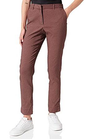 BESTSELLER Dam Pcesanna Mw Ankle Pants, Taupe Gray/Checks:rum Raisin, XL