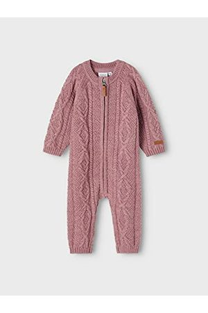 NAME IT Baby flicka Nbfwrilla Wool Ls stickad kostym Xxi sparkdräkt, Nostalgi ros, 56 cm