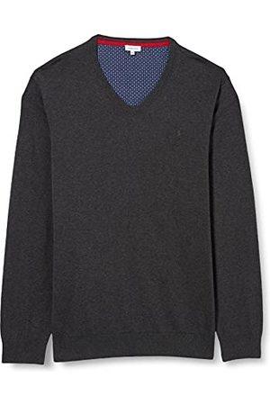 Seidensticker Sweatshirt för män V-ringad tröja, Antra Melange, S