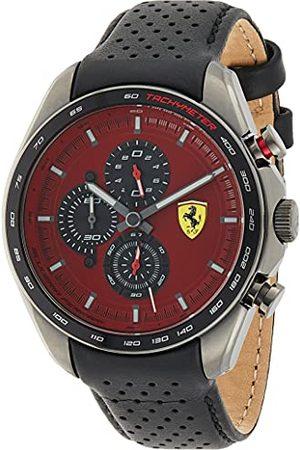 Scuderia Ferrari Herr analog kvartsklocka med läderrem 0830650