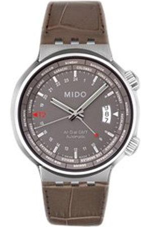 MIDO Mäns automatiska klocka M83504185 med läderrem