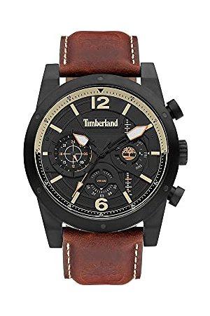 Timberland Analog kvarts klocka för män med läderarmband TDWGF2100001