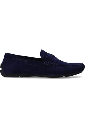 Emporio Armani Leather moccasins with logo