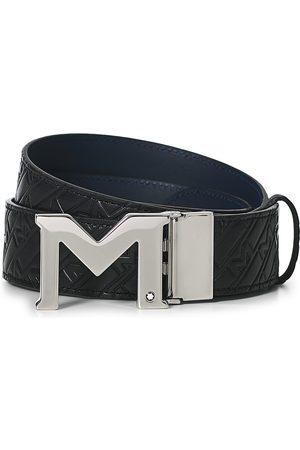 Montblanc Man Bälten - Reversible Belt 35mm Ultra Black/Blue