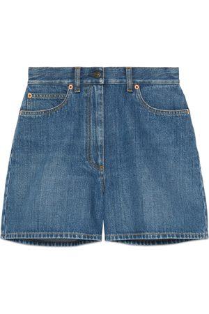 Gucci Denim shorts with Horsebit details