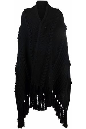 Les Hommes Cable knit oversized shawl cardigan