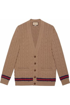 Gucci Man Koftor - Web stripe V-neck cardigan