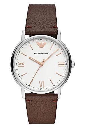 Emporio Armani Herrar analog kvarts klocka med läder armband AR1173