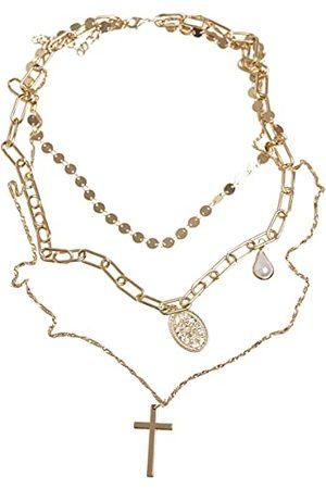 Urban classics Unisex halsband pärla kors halsband en storlek