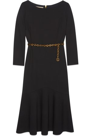 Gucci Sable dress with chain belt