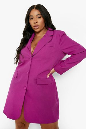 Boohoo Kvinna Casual klänningar - Plus - Oversize Blazerklänning
