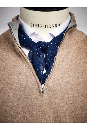 John Henric Man Sjalar - Bandana Dot Dark Blue