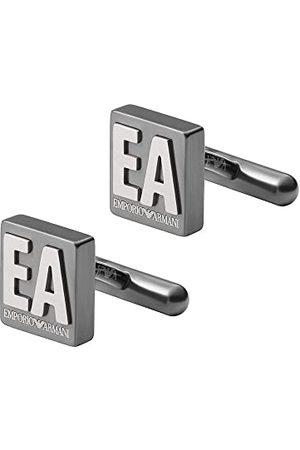 Emporio Armani Manschettknappar för män rostfritt stål antracit, EGS2756060