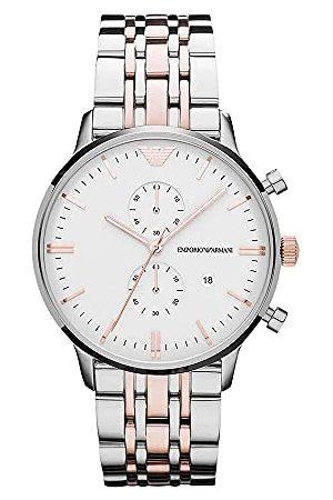 Emporio Armani Armbandsur för män XL kronograf kvarts rostfritt stål belagd AR0399