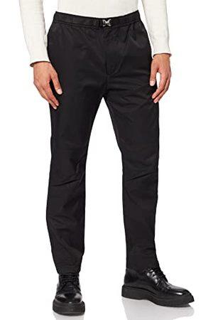 Armani Byxor för män med bälte detalj lediga byxor, , 31