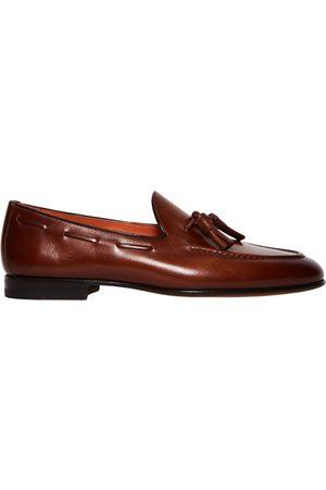santoni Tasselled Leather Loafers