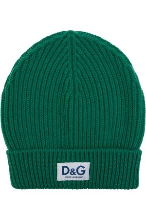 Dolce & Gabbana Knit cashmere hat with D&G patch