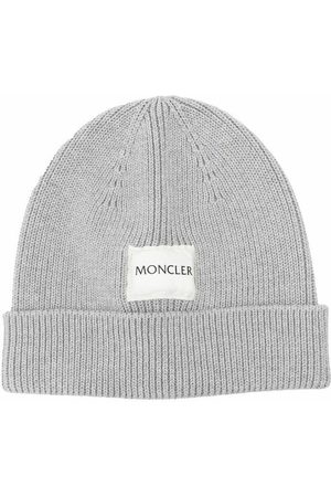 Moncler Ribbed Knit Logo Patch Beanie
