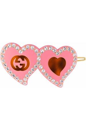 Gucci Kvinna Håraccessoarer - Hair clip with GG and hearts