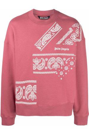 Palm Angels Paisley logo-print relaxed sweatshirt
