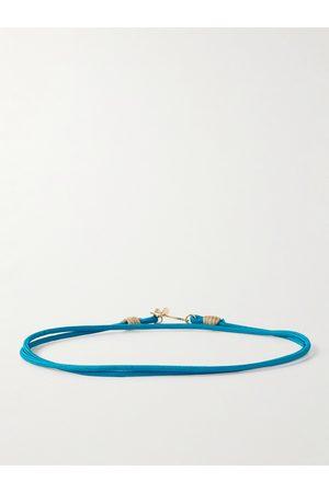 LUIS MORAIS 14-Karat Gold and Cord Wrap Bracelet