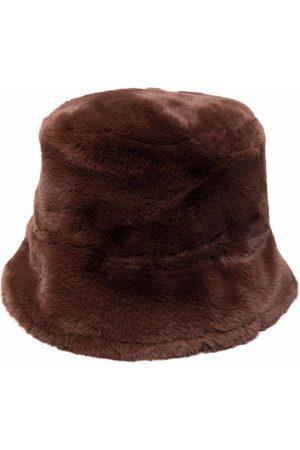Pinko Faux-fur bucket hat