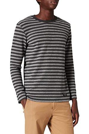 Sisley Sweatshirt för män, melange randig 901, M