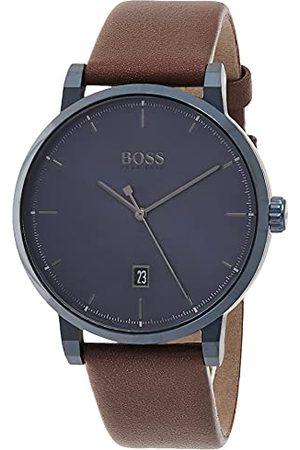 HUGO BOSS Herr analog kvartsklocka med läderrem 1513791