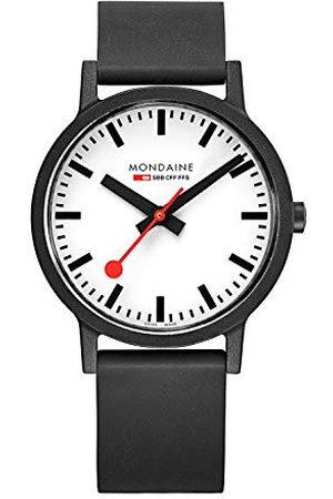 Mondaine Unisex datum klassisk kvarts klocka med gummi armband MS1.4110.RB