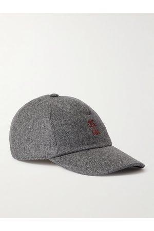 Brunello Cucinelli Logo-Embroidered Virgin Wool Baseball Cap