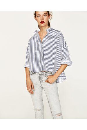 Kvinna Jeans - Zara JEANS MED MEDELHÖG MIDJA OCH SLITEN EFFEKT 9778ab4d84195