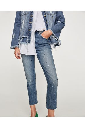 Zara JEANS THE VINTAGE HIGH RISE STUDS