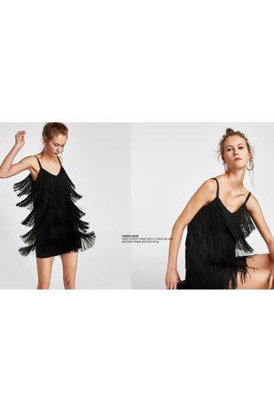 klänning med fransar