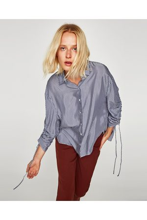 Zara veckad kvinna blusar   tunikor 542f8dbedc612