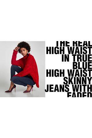 Zara JEANS HIGH WAIST TRUE BLUE