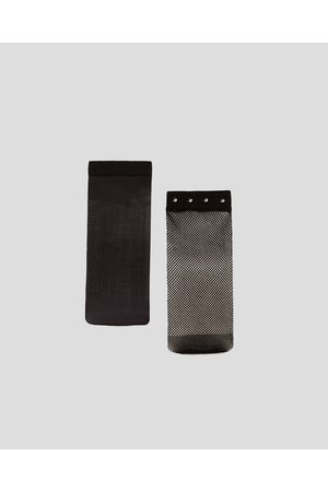 Zara PACK OF BASIC AND MESH SOCKS WITH STUDS
