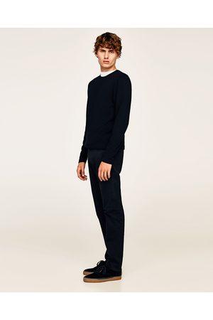 Zara Kvinna Slim & Skinny byxor - BYXA AV BASMODELL SLIM - Finns i fler färger