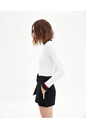 Zara BERMUDASHORTS PAPER BAG