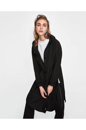 Zara LONG PARKA WITH ZIP